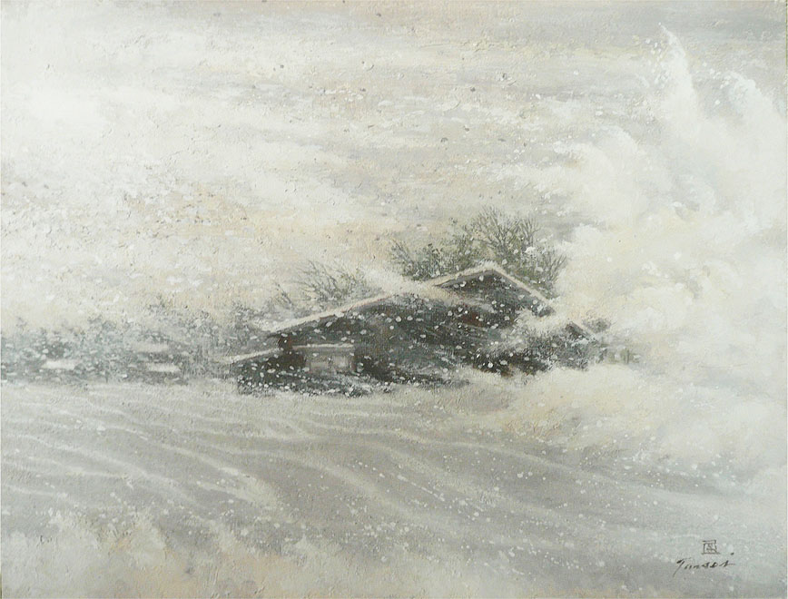 地吹雪  F6  テンペラ