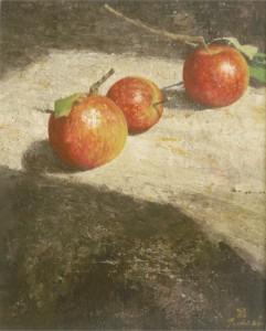 りんご F3  テンペラ