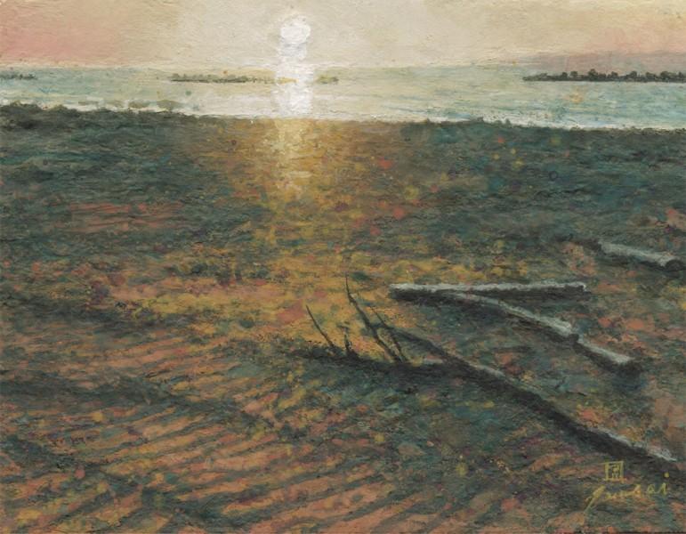 砂浜 テンペラ F0