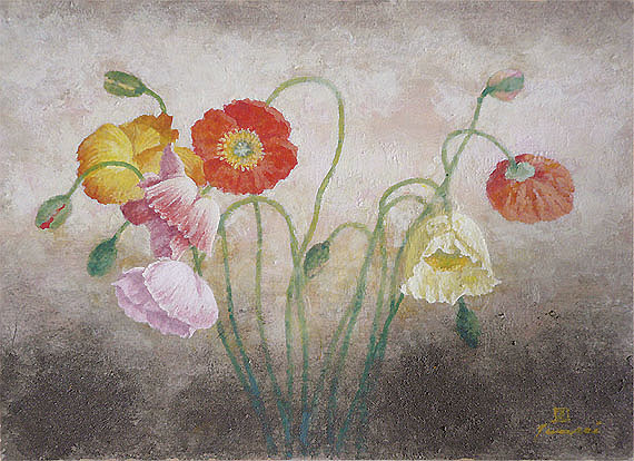 春の花 ポピー